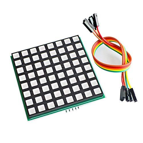 UIOTEC 1PCS LED Full Color Dot Matrix RGB LED Display Screen Board 88 Dot Matrix Module for Raspberry Pi 3/2/B+ 8x8 RPI-RGB-LED-Matrix* Full-dot-matrix-display