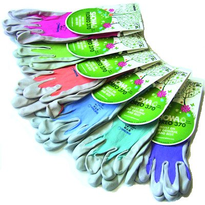 Showa Floreo 370 Lightweight Gardening Gloves Colour: Blue, Size: Medium