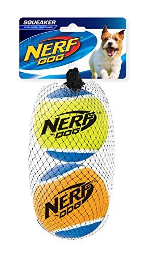 NERF Dog Squeak pelotas de tenis: 7,6cm
