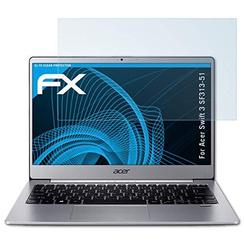 atFolix Schutzfolie kompatibel mit Acer Swift 3 SF313-51 Folie, ultraklare FX Displayschutzfolie (2X)