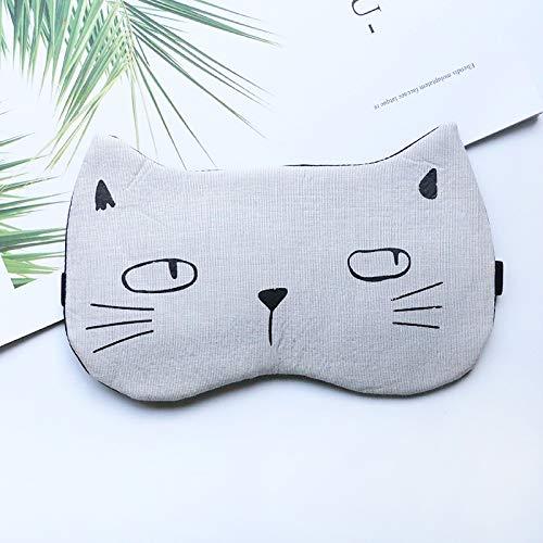 Baumwolle Augenmaske Schlafhaube heiße und kalte Kompresse atmungsaktiv Jungen und Mädchen schlafen Augenmaske gelb graue Katze