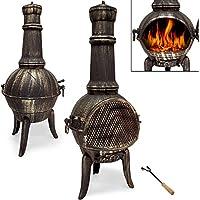 Terrassenofen aus Gusseisen - Gartenofen Gartenkamin Kamin Feuerstelle Feuerkorb