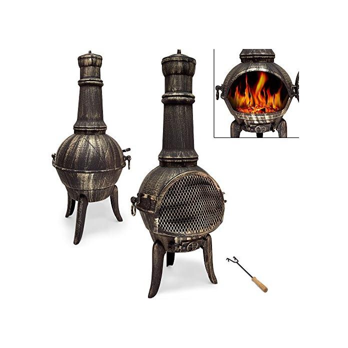Terrassenofen Aus Gusseisen Gartenofen Gartenkamin Kamin Feuerstelle Feuerkorb