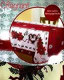 Mantel Rectangular (antimanchas, de Navidad para mesa de 8 a 10 personas, 150 x 200 cm), color rojo