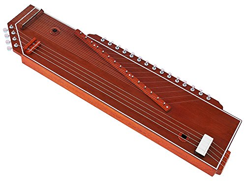 Tanpura + Swarmandal~2 IN1~Tambora, Tambura, Tanpuri (Male Type), Surmandal (15 String), Comes with Gig Bag, Hand Made Indian, Few Extra Strings, Best Quality Machine Tuning Head