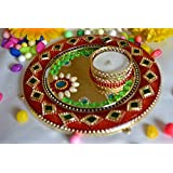Sparkle CnC's 2 In 1 Ready To Use Acrylic Rangoli And Diya Home Decoration Accessories .Premium Quality. Size 6X6 Inch