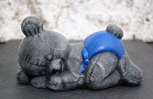 steinfigur-teddybar-schlafend-kindergrab-deko-figur-stein-frostsicher