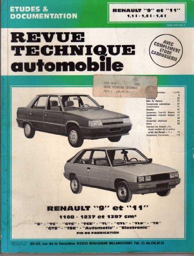 Revue technique de l'Automobile numéro 423.5 : Renault 9 et 11, 1100, 1200, 1400, 1982-1989