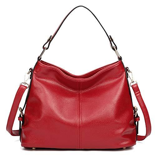 Zona Elegent Neue europäische u. Amerikanische Art-Frauen-Beutel-wannen-Beutel-Art- und weisetrend Wilde pu-Schulter-Beutel-handtaschen-Leder-kuriertasche Bezaubernd (Farbe : Red) (U-wannen)
