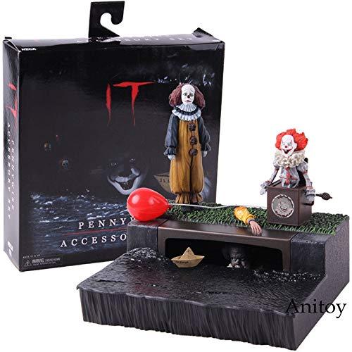 Es Pennywise Zubehörset PVC Der Clown Pennywise Action Figure Sammlermodell Spielzeug ()