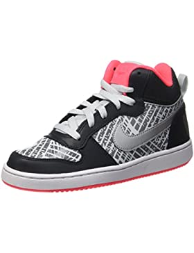 Nike Court Borough Mid Prnt Gg, Zapatos de Baloncesto Niñas