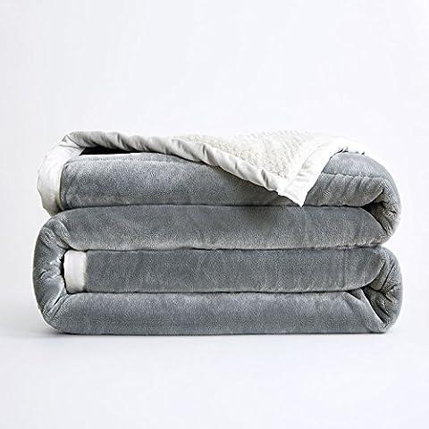 hhyws Couvre-lit doux et chaud Plaid épais Duplex, gris Faller non pelucheux avec bébé non pelucheux, 200* * * * * * * * 230