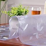HM&DX Gefrostet Transparent Tischdecken Wasserdicht PVC Tabelle beschützer Abwaschbar Weiches Durchsichtige Tisch decken tuch Abdeckung für kaffee, wohnküche-Blume 90x140cm(35x55inch)