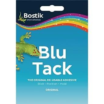 Bostik Blu-tack Mastic Adhesive Non-toxic Handy Pack Ref 801103 [Pack of 12]