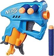 Nerf NanoFire Blaster, Green Single-Shot Blaster with Dart Storage, Includes 3 Official Nerf Elite Darts, For