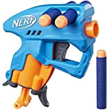 Nerf NanoFire Blaster, Green Single-Shot Blaster with Dart Storage, Includes 3 Official Nerf Elite Darts, For Kids Ages 8 and up