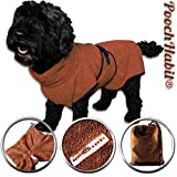 PoochHabit Weiche Microfaser Hund Bademantel Easy Wear Super saugstarker Badetuch.