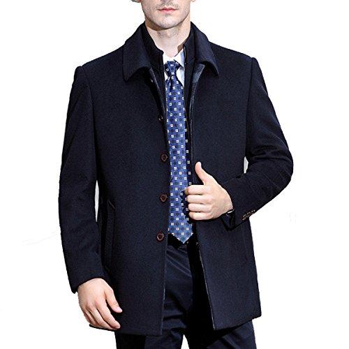Laine Manteau Pour Homme, Manteau, Et De Longues Sections, Plus épais 26Dark