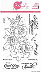 "Mudra Stamps - Fresh Cut Rose - 6""x4""Clear Art & Craft Photo Polymer Stamp Set for DIY Greeting Card Making, Scrapbooking, Papercraft & Colouring"
