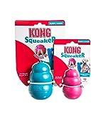 Kong Puppy Squeaker - Gioco sonoro da mordere, da lancio e da riporto, con squeak (Rosa, Small)
