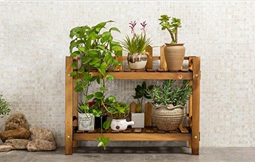 JAZS® Porte-fleurs, clôture en bois massif Balcon Salle de séjour Étagère à fleurs Porte-pot à fleurs Carré à base de carbone 70CM Long protection de l'environnement raffinée ( taille : 70cm-1 )