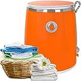 Syntrox Germany 3 Kg WM-380W Waschmaschine mit Schleuder Campingwaschmaschine Mini Waschmaschine (Orange)