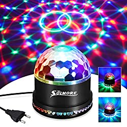 LED Discokugel, SOLMORE 51LEDs 12W 7 Farben Discolampe Partyleuchte RGB Lichteffekt Bühnenbeleuchtung Party Licht Deko