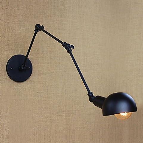 Moderno metallo Vintage singole teste luce da parete in ottone