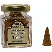 Luxus Duft Räucherkegel - Sandelholz - Räucherkerzen Sandel Duftkegel 15 Stück im Glas preisvergleich bei billige-tabletten.eu