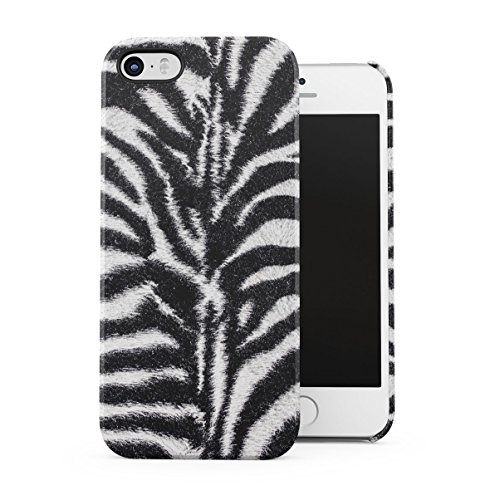 Zebra Fur Pattern Dünne Handy Schutzhülle Hardcase Aus Hartplastik Hülle Kompatibel mit iPhone 5 / iPhone 5S / iPhone SE Handyhülle Case Cover -