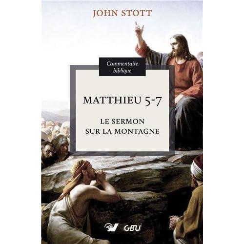 Matthieu 5-7 le sermon sur la montagne