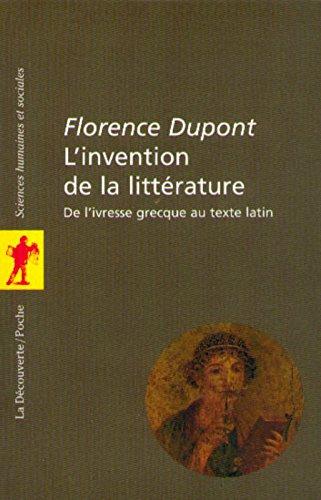 L'invention de la littérature
