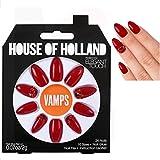 House Of Holland VAMP Christmas Red false Nails Plus Nail Glue Nail File fake nails