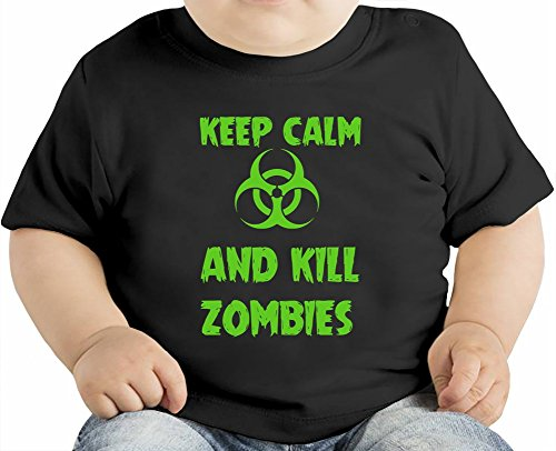 Keep Calm And Kill Zombies T-shirt bambino bio 12 - 18 Months