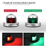 #5: Marine Boat Led Lights ONEVER 12V Stainless Steel Bow Navigation Lights Sailing Signal Light Navigation Side Lights Red & Green