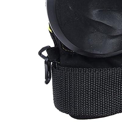 Andux Zone Erwachsene Freeride Grip Slid Skateboard Handschuhe mit Foam Palm HBST-03 (schwarz, M)