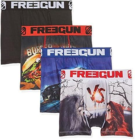 Freegun X4, Boxer Garçon, Multicolore, 7-8 Ans (Taille Fabricant:6/8) (lot de 4)