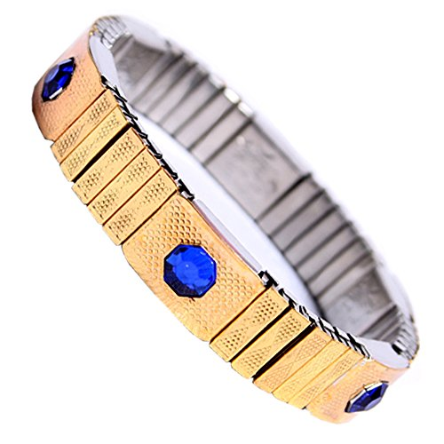 Flexible Energy Golden Magnetic Therapy Chain Bracelet For Men/women  available at amazon for Rs.449