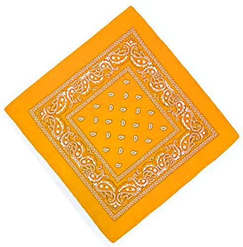Unbekannt Bandana Kopftuch Halstuch Nickituch Biker Tuch Motorad Tuch verschied. Farben Paisley Muster, Sonnen Gelb, ...