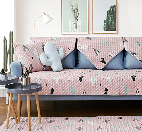 zug Schonbezug, Gesteppte Rutschfeste Sofabezug Für Schnittsofa Möbel Sofaschutz Für 2,3 Kissen Couch All-Season-Einzelstück B 110x110cm (43x43inch) ()