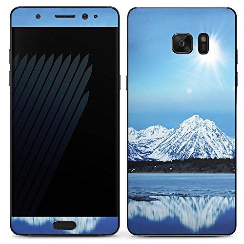 DeinDesign Samsung Galaxy Note 7 Case Skin Sticker aus Vinyl-Folie Aufkleber Gebirge Schnee Gipfel -
