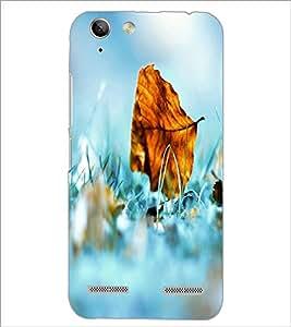 PrintDhaba Leaf D-2401 Back Case Cover for LENOVO VIBE K5 (Multi-Coloured)