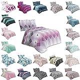 Buymax Bettwäsche Bettbezug 200x200 cm, Kopfkissenbezug 80x80 cm 3 teilig Bettgarnitur Bettwäsche - Set Baumwolle Renforcé mit Reißverschluss Oeko-Tex