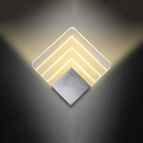 Sprsk Aluminium Square Aisle Wandleuchte europäischen modernen minimalistischen Wandleuchte Hotel Engineering Wandleuchte LED Zimmer Nachttischlampe Kunst Schlafzimmer Wand Scocne ETL und Energy Star - Energy-star-wand-beleuchtung