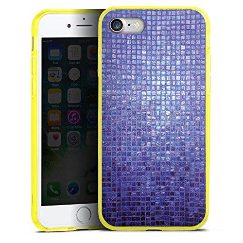 Apple iPhone 7 Silikon Hülle Case Schutzhülle Mosaik Steine Muster Silikon Colour Case gelb