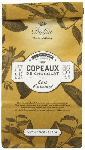 Dolfin Copeaux de Chocolat Lait Caramel, Trinkschokolade-Flocken, Karamell