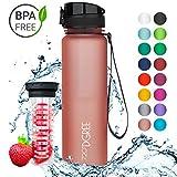 720°DGREE Trinkflasche 'uberBottle' - 1 Liter, 1000ml, Pink | Neuartige Tritan Wasser-Flasche |...