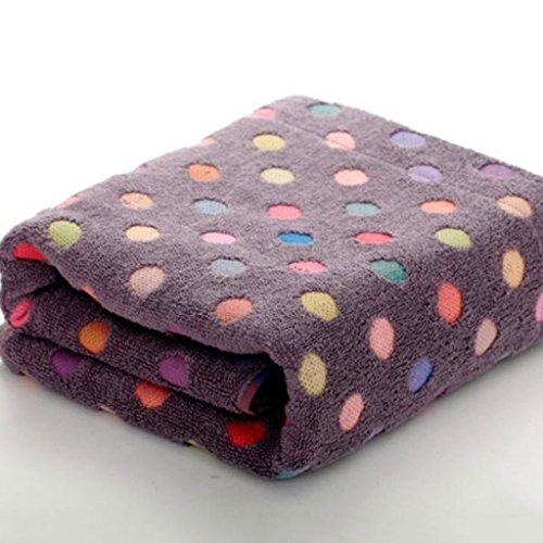 Wddwarmhome Dunkelbraune Badetuch Bunte Punkte Baumwolltücher Erwachsene Weiche saugfähige Badetücher Badetücher 2