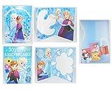 Carte double Anniversaire Frozen La Reine des Neiges Disney + enveloppe - Aléatoire - 232