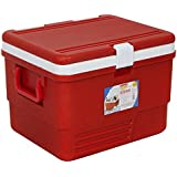 ARISTO Plastic Ice Box, 25L(Red And Blue) - Family Pack